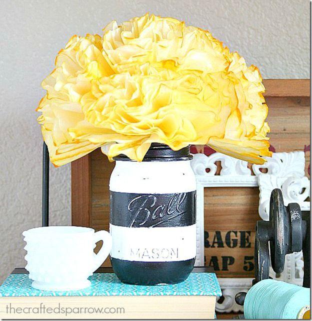 Striped Mason Jar - Mason Jar Crafts Love