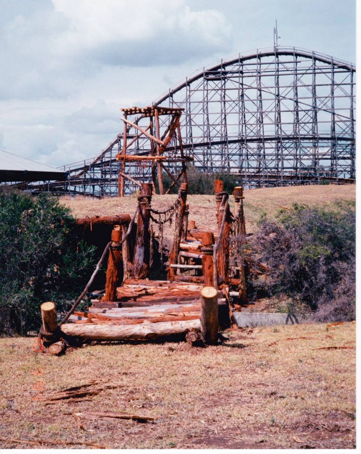 Nice shot of the Bush Beast with the Snowy River Rampage in the foreground