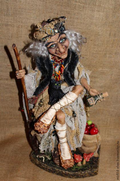 """Коллекционные куклы ручной работы. Ярмарка Мастеров - ручная работа """"Баба Яга на пне"""". Handmade."""