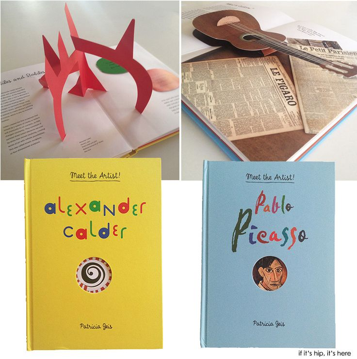 Two new interactive children's books introduce them to legendary artists Calder and Picasso.
