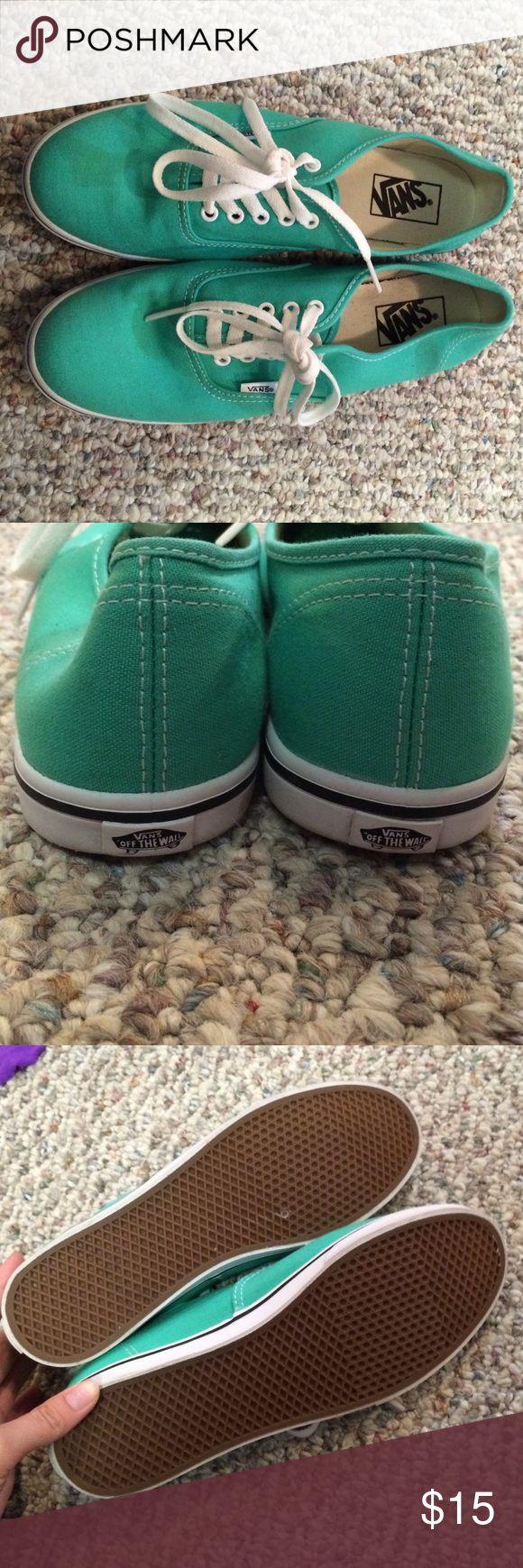 Size 9 mint green vans Never worn brand new Vans Shoes Sneakers