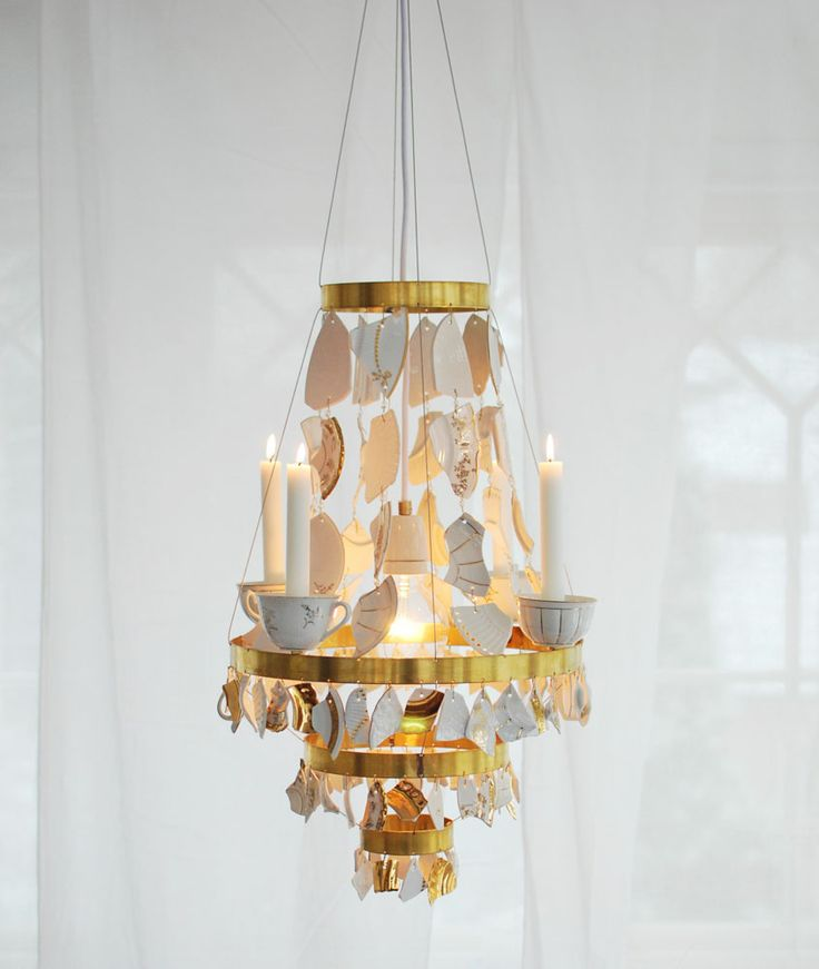 beautiful upcycled chandelier