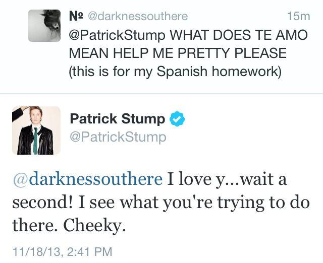 Fall Out Boy tumblr Funny | i love him.