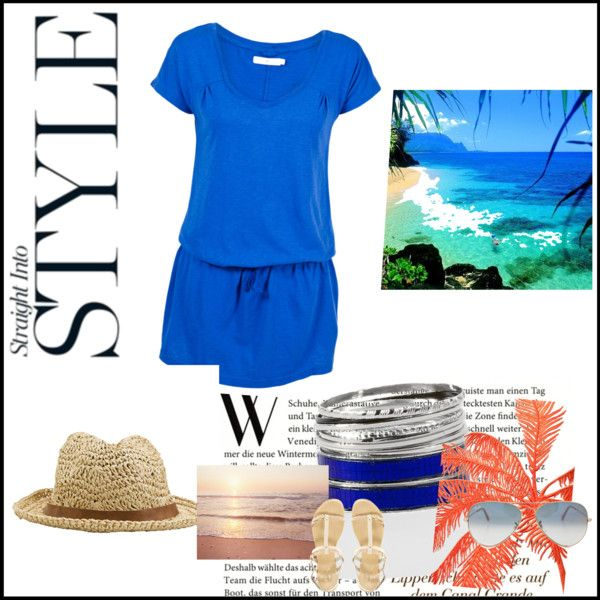 """Off the beach straight to lunch"" by gilleastwood on Polyvore"
