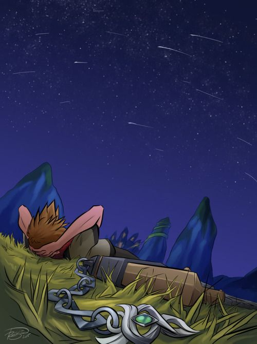 It really felt like I'd been there before, looking up at the stars