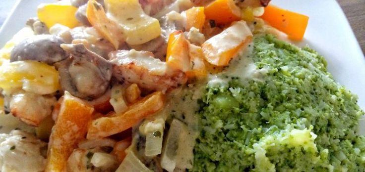 Kip met boursin ovenschotel   Koolhydraatarm - Knutselen in de Keuken