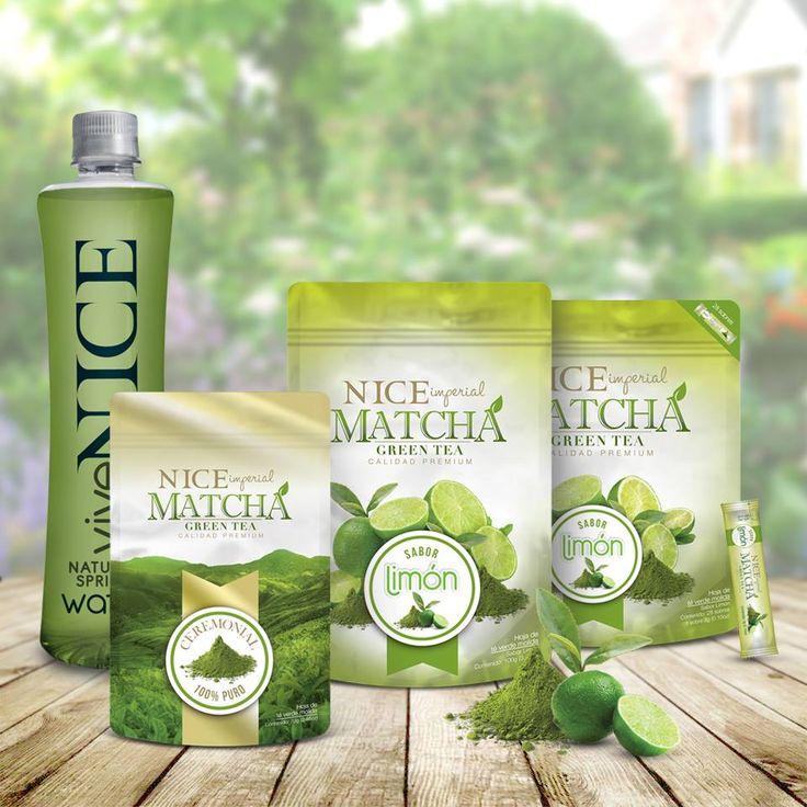 Todas las propiedades de NICE Imperial Matcha Green Tea, ahora con un delicioso sabor limón y 100% puro sin endulzante.