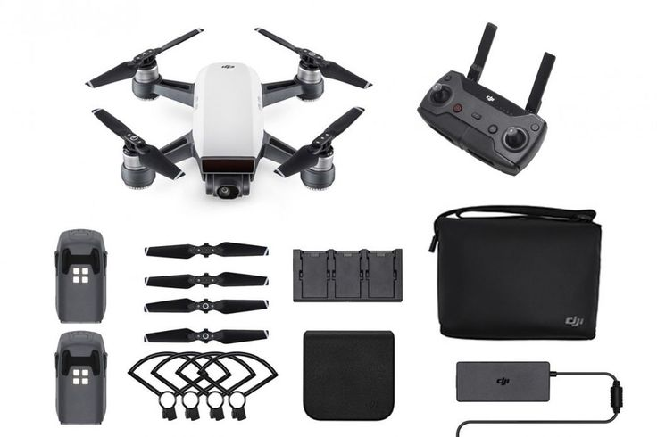 DJI Spark Fly More Combo - Alpine White Quadcopter Drone