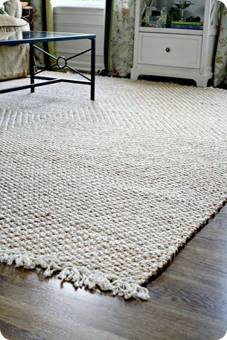 Pottery Barn jute rug. If I only had hardwood floors in my house....