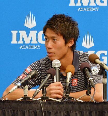 新シーズンに向けて、記者会見で抱負を語る錦織圭=27日、米フロリダ州ブラデントン ▼28Dec2014時事通信|「いずれ1位に」-錦織の一問一答-男子テニス http://www.jiji.com/jc/zc?k=201412/2014122800078 #Kei_Nishikori