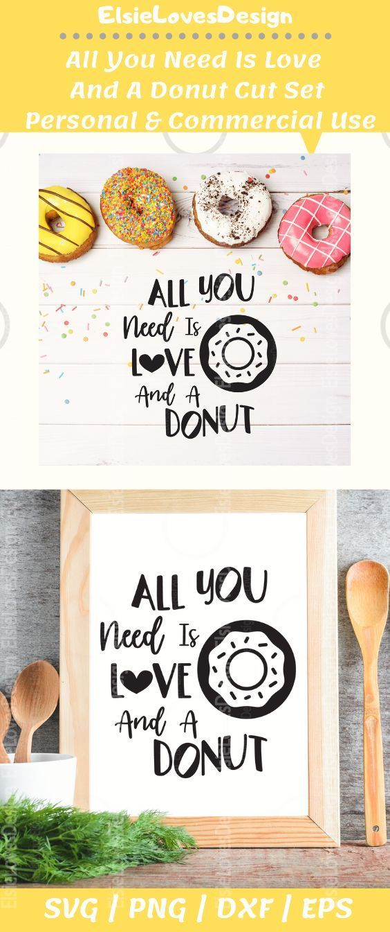 Download All You Need Is Love and A Donut svg | Valentines Svg ...