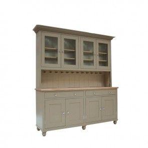 Neptune Suffolk 6Ft Glazed Rack Dresser With Drawers