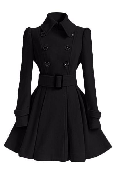 Moda hot - a venda de outono e inverno de médio - longo casaco de lã outerwear fivela de cinto trincheira