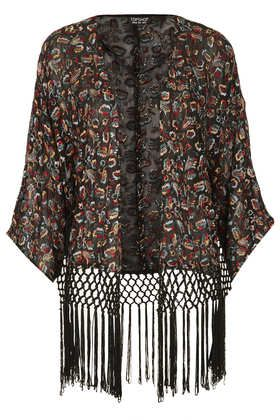 Embroidery Fringe Kimono - New In This Week  - New In