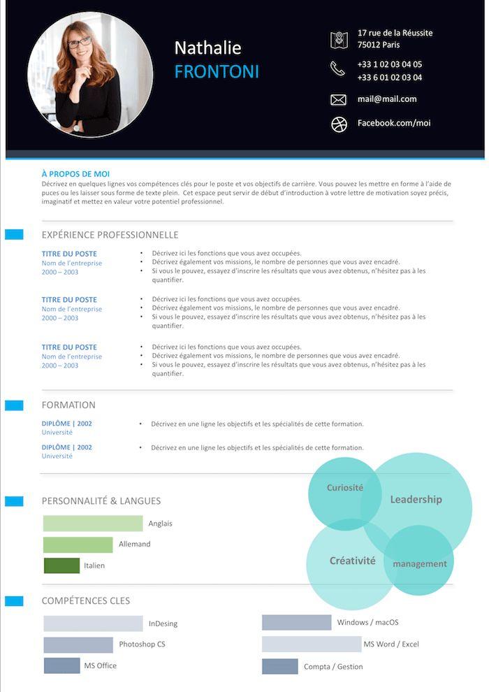 CV moderne | Exemple cv, Cv moderne, Assistante de direction