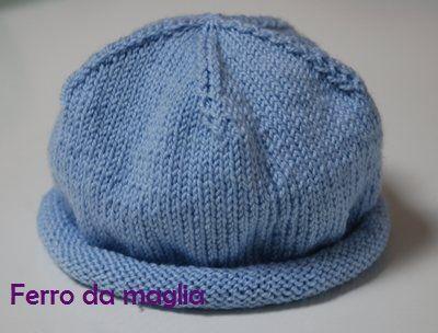Cappellino per neonato – Ferro da maglia