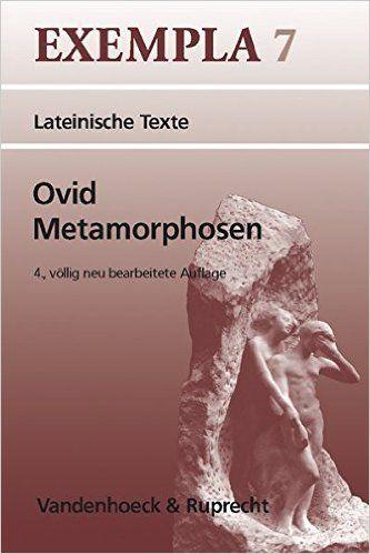 Ovid, Metamorphosen. (Lernmaterialien) (Exempla): Amazon.de: Hans-Joachim Glücklich: Bücher