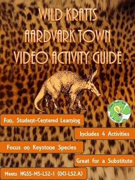 This resource is to be paired with the viewing of the Wild Kratts Aardvark Town Video. This episode can be found on YouTube, Yahoo, or on Netflix (Season 1, Episode 3). The episode shows how the structural features of an aardvark allow it to play a keystone species role in its community.