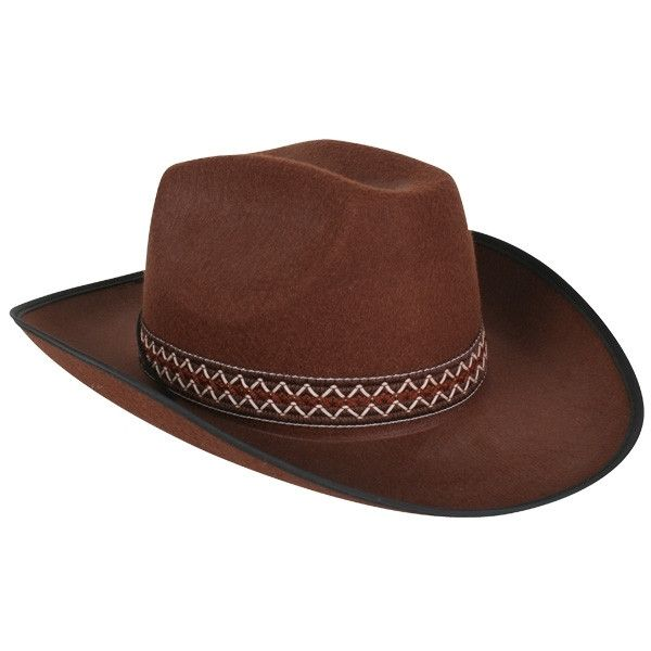 Cowboy Hat Brown with Woven Band | Disguises Fancy Dress Online Australia
