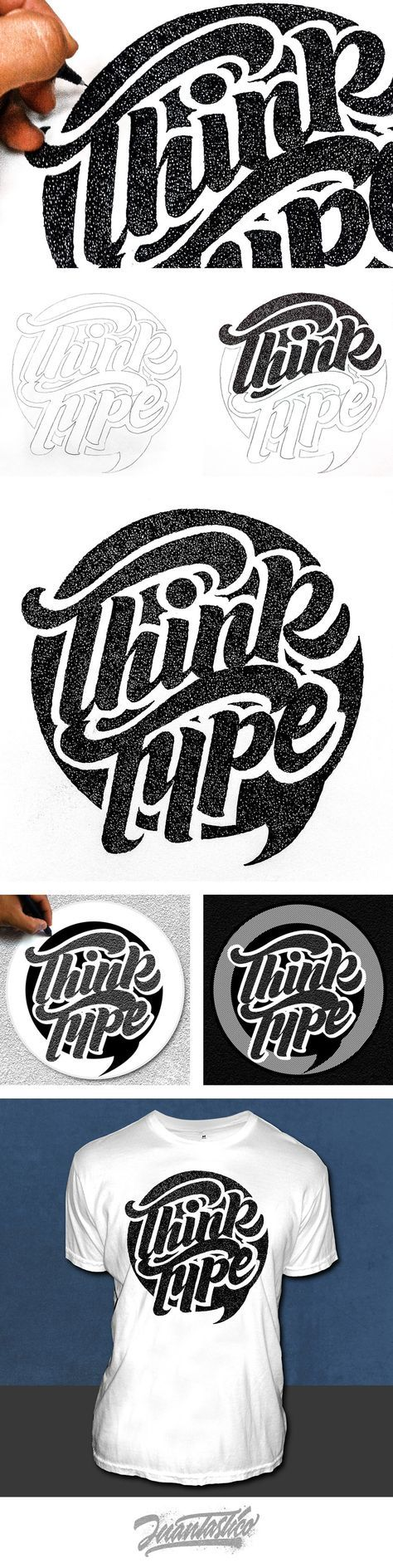LETTERING DESIGN... Typography Illustrations #ElJuantastico                                                                                                                                                     Más