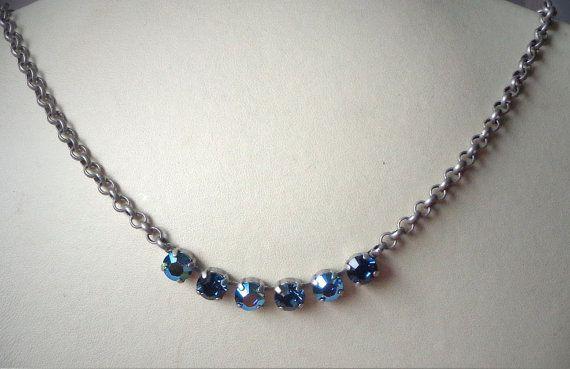 Austrian crystal 8mm blue montana AB fancy by CrystallizedByLena, $30.00