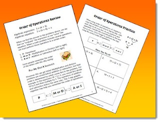 Order of Operations Freebie from Laura Candler