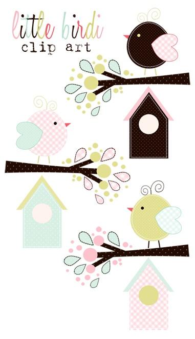 Pajaritos y casitas imprimibles muy cute