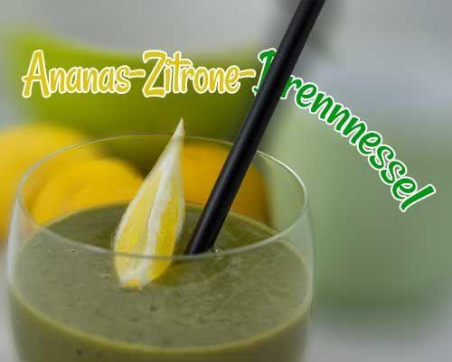 Ananas-Zitronen-Brennnessel-Smoothie