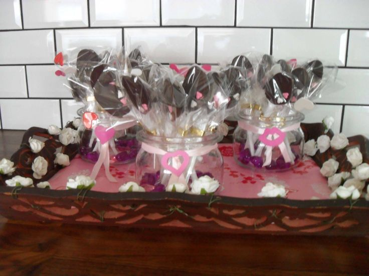 Chocolade lepels: Valentijn