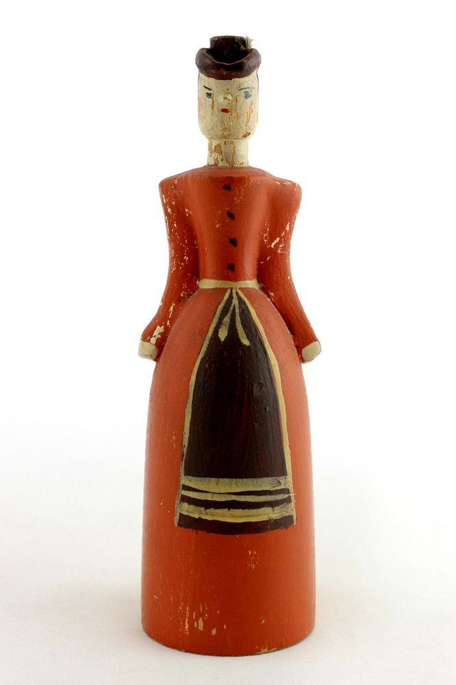 A vintage hand carved Swedish wooden doll / woman. Handpainted. Folk art style  | eBay