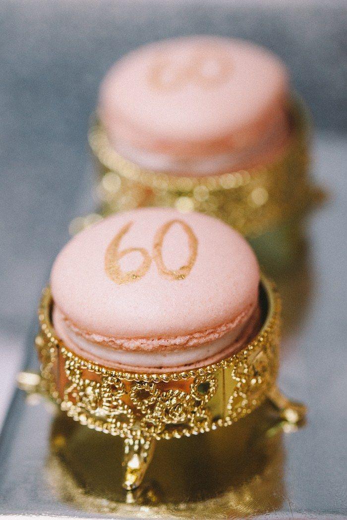 Macarons at a Royal 60th Birthday Celebration with So Many Spectacular Princess Party Ideas via Kara's Party Ideas KarasPartyIdeas.com by Banner Events #royalparty #princessparty
