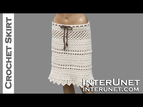 How to crochet maxi skirt free pattern tutorial by marifu6a - YouTube