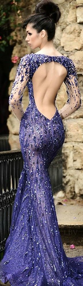 Blue Fancy prom Dress Design