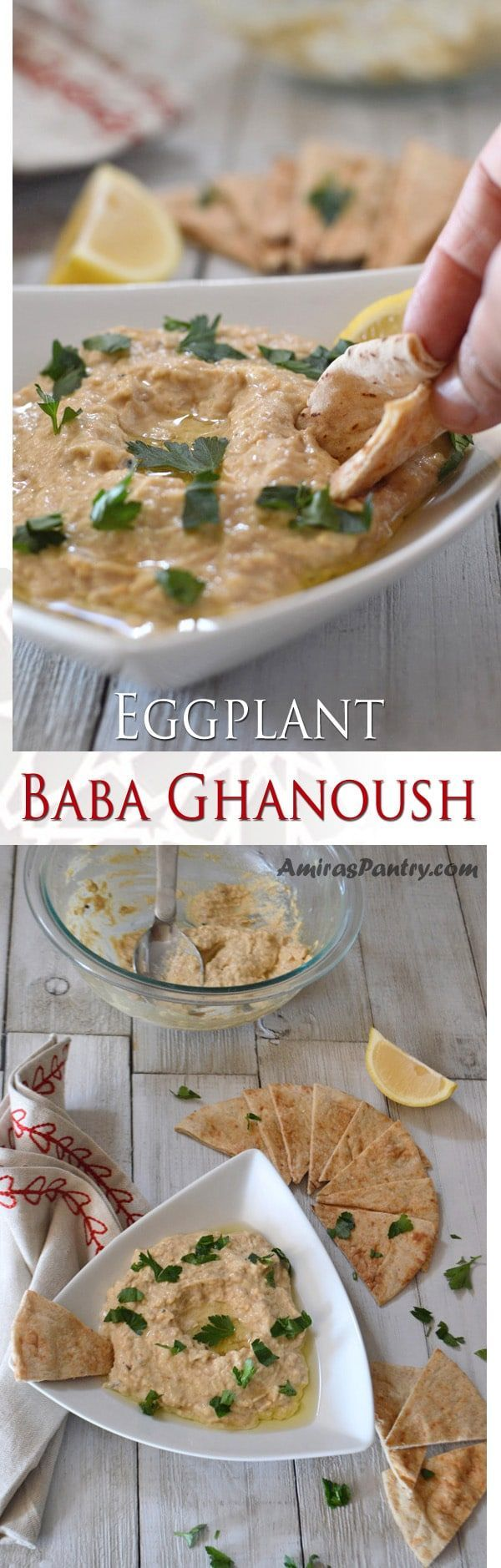 Baba ghanoush/ ghanouj or even papa ganoush is a smoked eggplant dip that is insanely delicious.Like the Tahini sauce, Baba ghanoush is an authentic Middle Eastern dip, that almost everyone has his favorite version of. Here is a basic recipe for this amazing roasted eggplant spread. So let me show you how to make baba ghanouj.