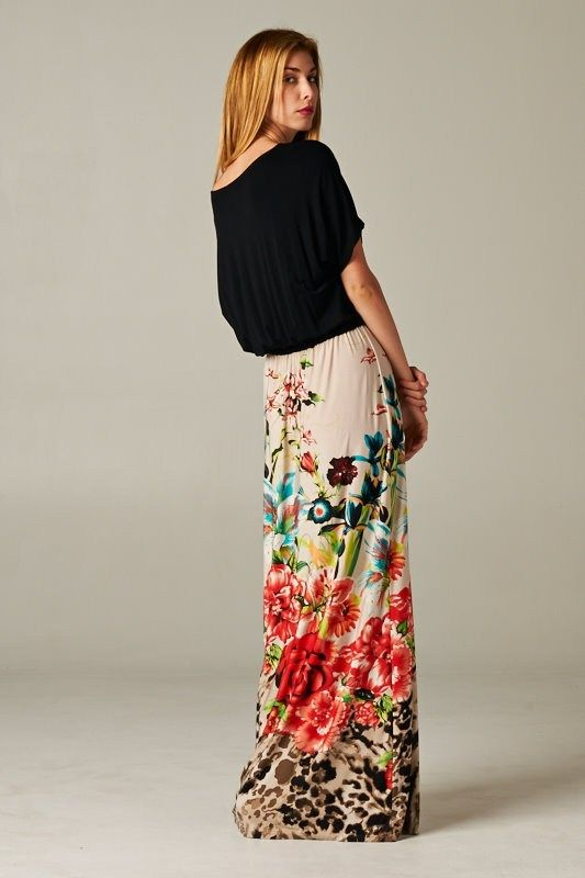 lovely floral maxi skrit