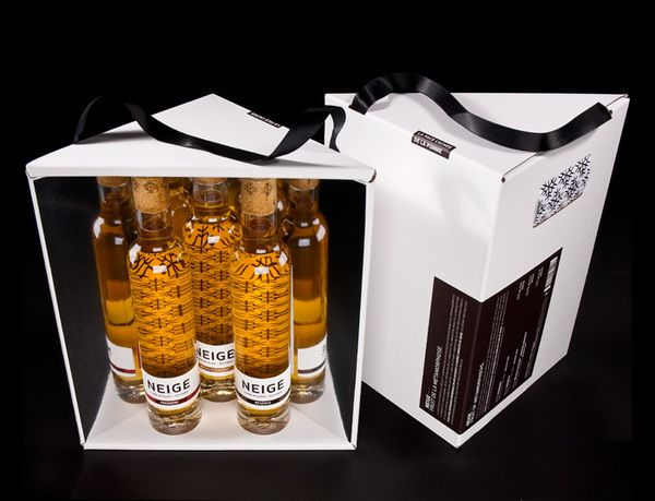 Neige Ice Ciders Gift Set by Chez Valois , via Behance