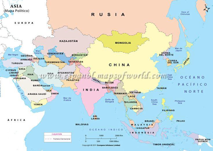 Mapa Asiatico  5 Asia  Pinterest  Asien