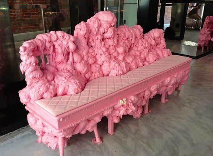"218 Likes, 3 Comments - Home Sweet Hell 🥀 (@homesweethell) on Instagram: ""YOUR TOP JULY FAVORITES 💗 bubblegum couch at Adriano Zumbo's Patisserie in Melbourne"""