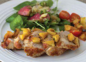 Gluten-Free Pork Tenderloin with Grilled Peaches | Gluten Free & More