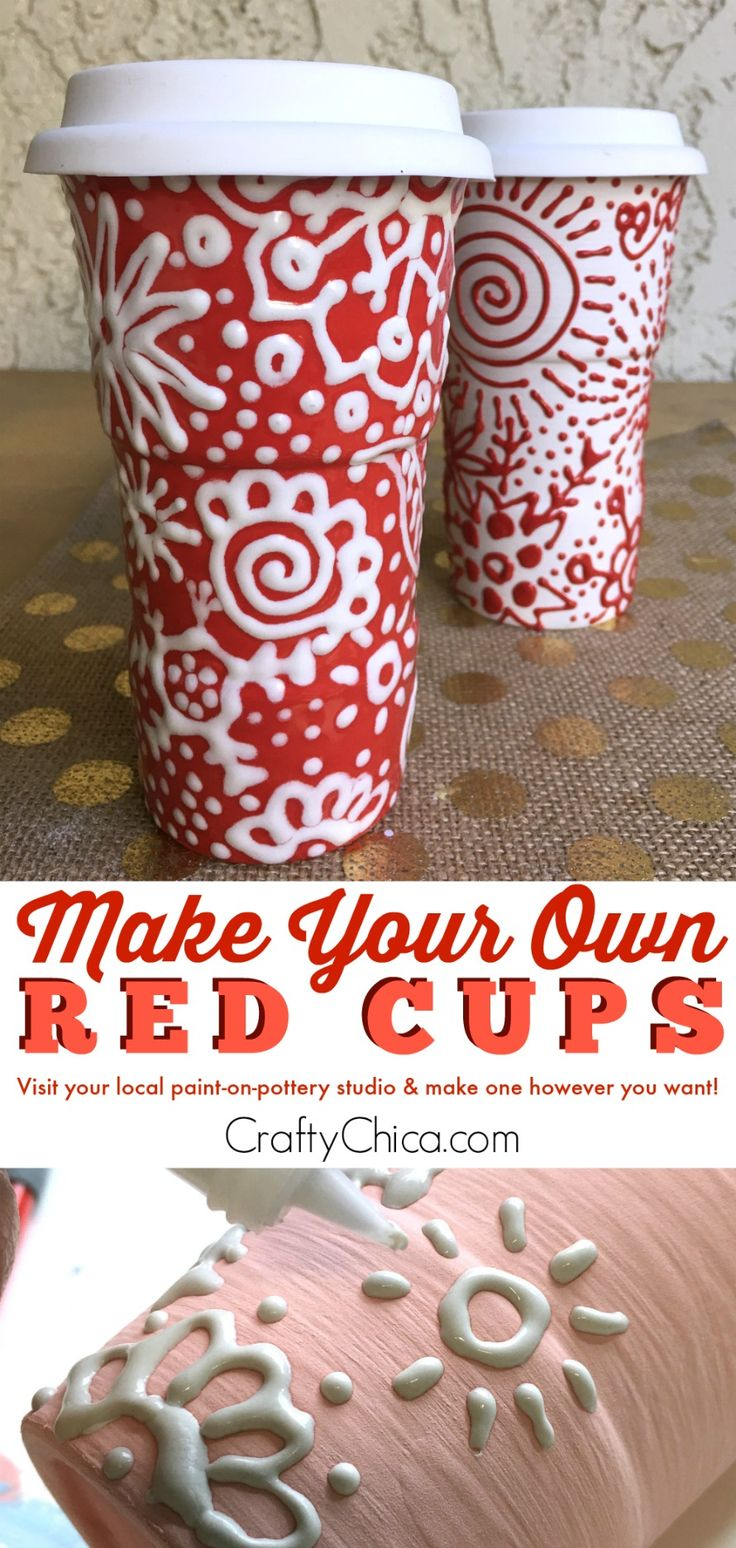 Ceramic christmas houses to paint - Make Your Own Red Cup
