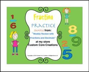 "FREE MATH LESSON – ""FREE Fraction and Decimals Practice Sampler"" - Go to The Best of Teacher Entrepreneurs for this and hundreds of free lessons. 4th - 7th Grade    #FreeLesson    #Math     thebestofteachere..."