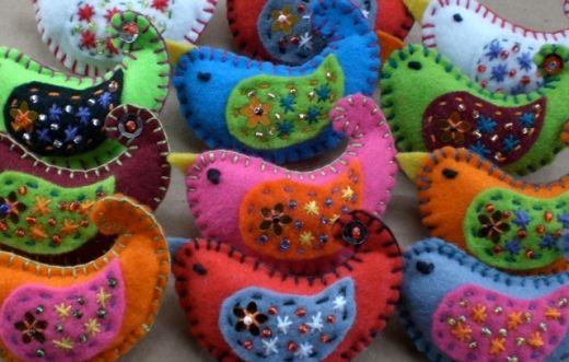 #felt crafts, Felt Bird Crafts