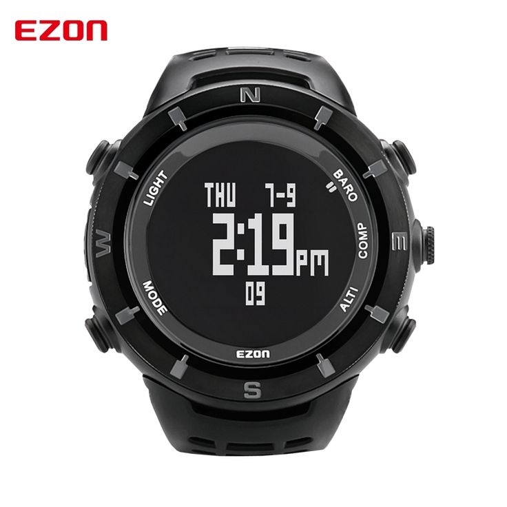 89.44$  Buy now - http://aligmv.worldwells.pw/go.php?t=32782107732 - EZON Altimeter Barometer Thermometer Compass Weather Forecast Men Digital Watches Sports Clock Climbing Hiking Wristwatch Hours 89.44$