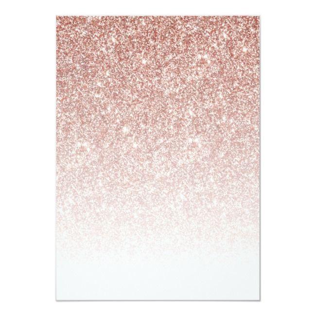 Rose Gold Glitter Elegant Script Sweet 16 Birthday Invitation Ad