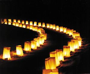 Our photographer suggested luminarias for nightfall - I think it's a beautiful idea to lead people back to their cars!