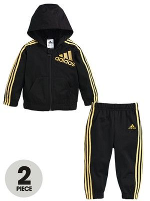 huge discount c8b93 c8a94 ... black and gold adidas tracksuit kids ...