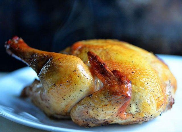 Cornish Hen Recipe from addapinch.com