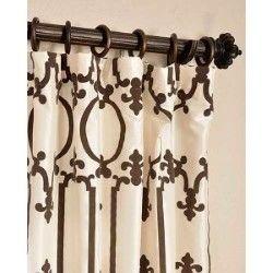 Half Price Drapes Royal Gate Ivory 96 X 50 Inch Curtain Single Panel Ptfflk C32 96