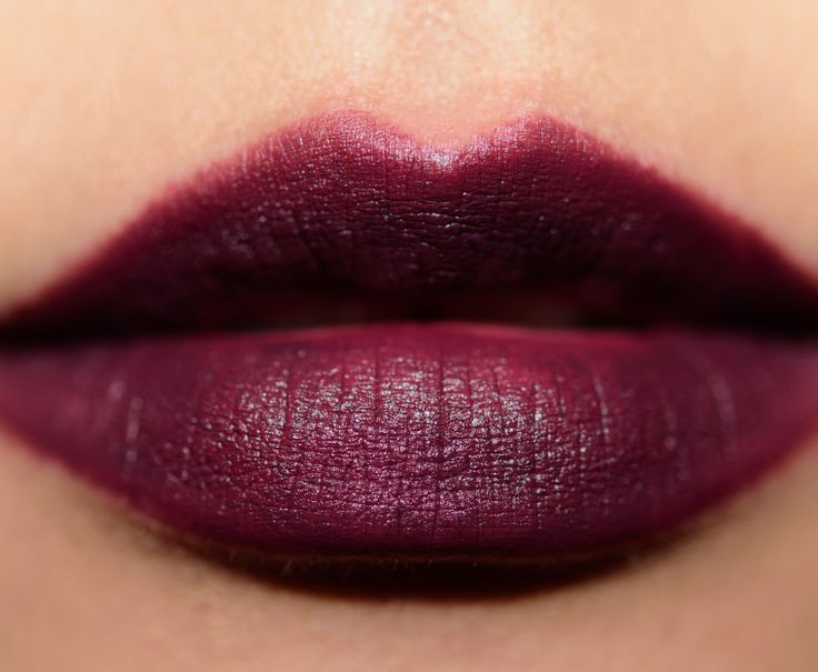 MAC Smoked Purple Lipstick Review & Swatches