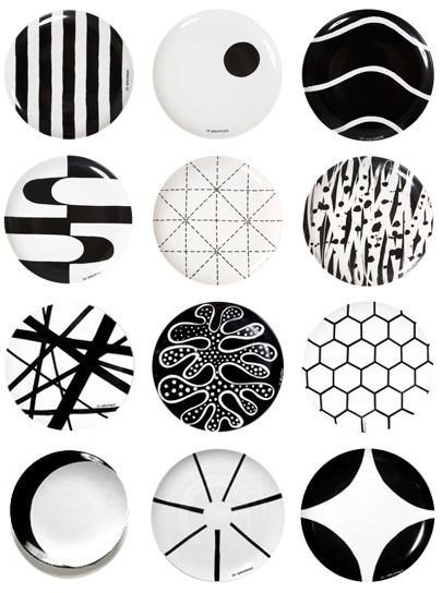 Delicieux Black White Plates With Patterns From Swedish 10  Gruppen/Ten Swedish  Designers